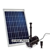20 watt solarpumpe solar teichpumpe springbrunnen teich ebay. Black Bedroom Furniture Sets. Home Design Ideas